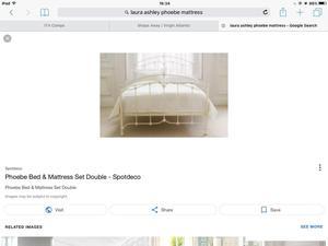 Laura Ashley Phoebe King Size Bed plus mattress