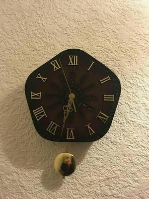 Leather battery operated clock
