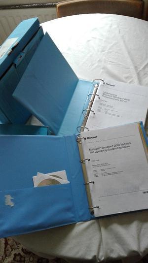 Microsoft Windows  Professional and Server Course Books.