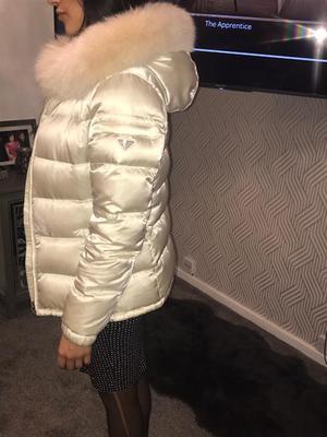 Prada jacket coat Fox Fur Genuine
