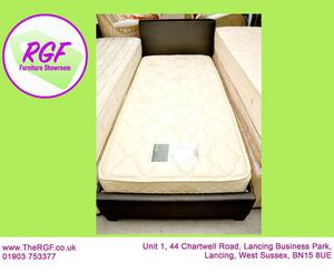SALE NOW ON!! - 3ft Single Faux Leather Bed Frame &