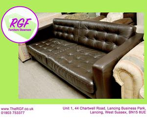 SALE NOW ON!! - 4ft Leather 3 Seater Sofa - Local Delivery