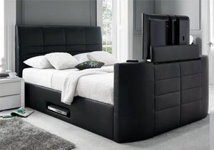 TV BED WITH GAS LIFT AND ELECTRIC STORAGE double bed king size BED 442ABUAUCA