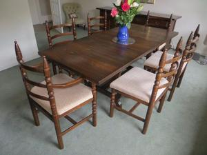 Younger Toledo Dining Room Table with Six Chairs, Glass Display Cabinet & Sideboard
