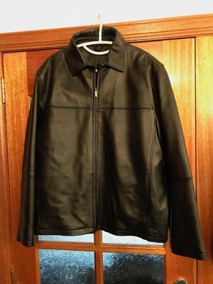 Dress leather jacket in black