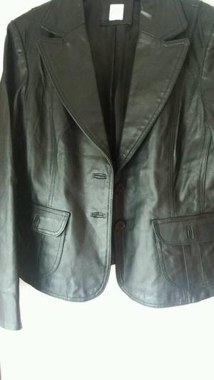Ladies real leather black jacket
