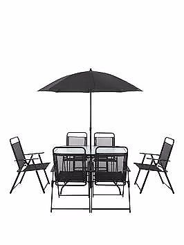 New boxed Santa Cruz 8-Piece Furniture Set with New Style Chair