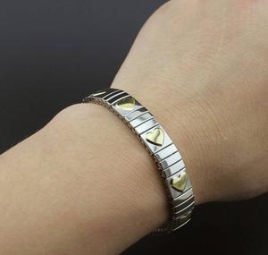 Nomination Style Expandable Heart Bracelet