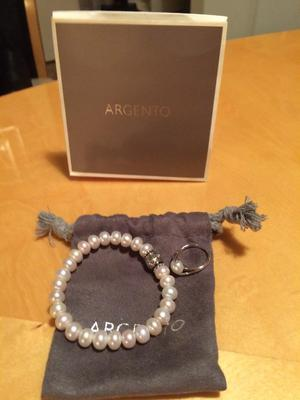 Argento chain, bracelet and ring