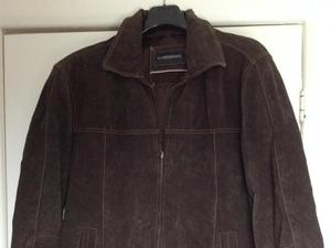 Chocolate brown Suede Jacket Size 54. (Small)