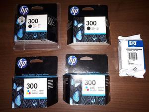 HP 300 INK CARTRIDGES (3 x black 2 x colour)