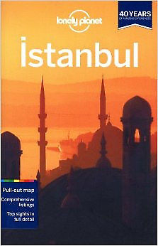 ISTANBUL - Lonely Planet guide book with map