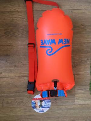 New Wave Swim Buoy - Swimming Tow Float and Drybag for Open Water Swimmers