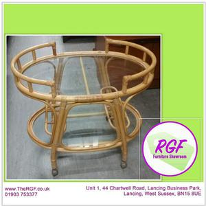 SALE NOW ON!! Cane Trolley / Table On Castors - Local