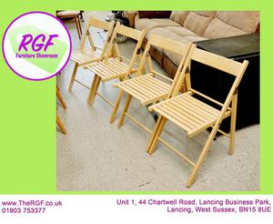 SALE NOW ON!! - Set Of 4 Fold Away Dining Chairs - Local