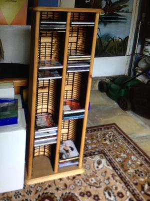 Solid pine CD rack