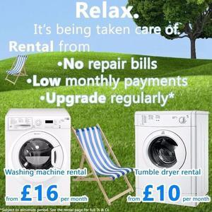 Washing Machine Rental From - £3.75