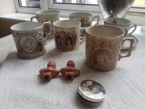 Collection of Royal Commemorative Mugs and other