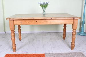 DELIVERY OPTIONS - 5 FT SOLID PINE FARMHOUSE TABLE WAXED