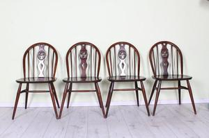 DELIVERY OPTIONS - SET OF 4 ERCOL FLEUR DE LYS CHAIRS s
