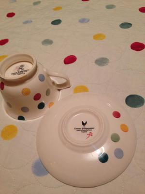 Emma Bridgewater large Polka Dot Tea cup and Saucer