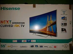 """LTDN55K720WTSEU Hisense Curved 55"""" 4K TV"""