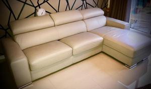 Large leather sofa LIKE NEW