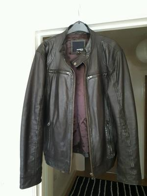 Leather jacket by Barneys size M