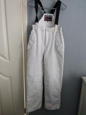 Teens Whte Ski Trousers Aged Yrs