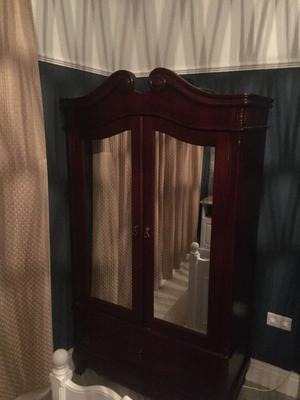Wardrobe with Mirrored Doors (as new)