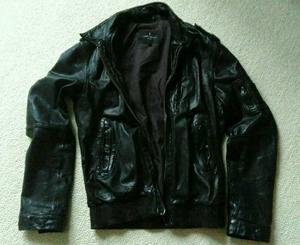 All Saints Leather Bomber Jacket size: M