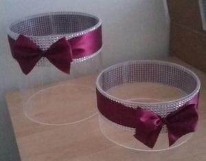 Cake stands perfect for a wedding