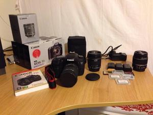 Canon EOS 7D Boxed, 3 Lenses, 3 Batteries, 6 Memory Cards £600 ono