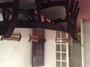 Dining Room table, 6 chairs and matching display unit