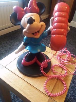 Disney Minnie Mouse Corded Working Telephone Retro