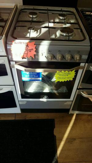 INDESIT 50CM GAS SINGLE OVEN COOKER IN GREY ☆BRAND NEW☆