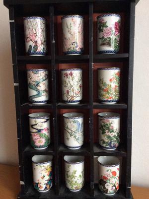 Oriental 12 Months Blossom Tea Cups