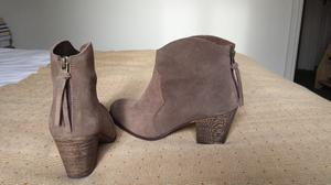 Taupe Suede Ankle Boots for Sale
