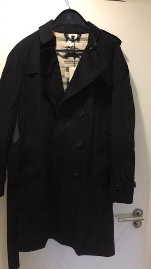Black Burberry Trench Coat - Wiltshire - size 54