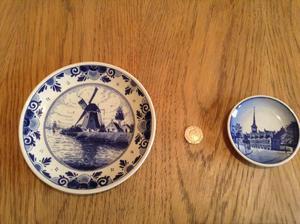 Delft and Royal Copenhagen wall plates