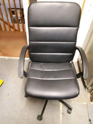 IKEA Adjustable Swivel Black Office Desk Chair