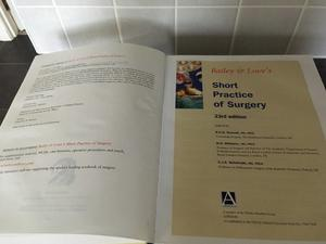 Medical Book Bailey and Loves Short Practice of Surgery 23rd edition.
