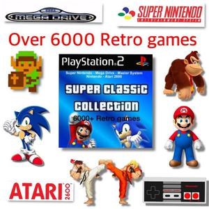 Sega, Nintendo, Snes, Nes, Mega Drive, Atari  Mario Over  Retro games PS2