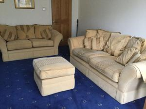 Sofas for Sale (3 Seater / 2 Seater and Matching Pouffee