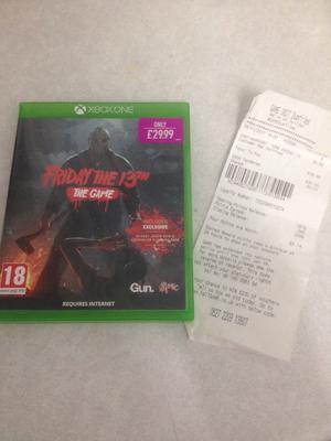 BNWR Friday 13Th Xbox One Game
