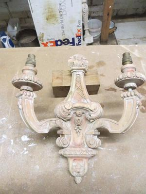 Carved Wall Sconce