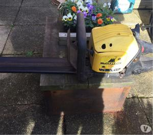 McCulloch chainsaw and hedgtrimmer
