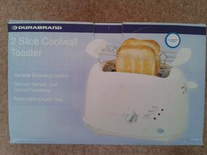Durabrand (XB--Slice Coolwall Toaster – never been used/still in box.