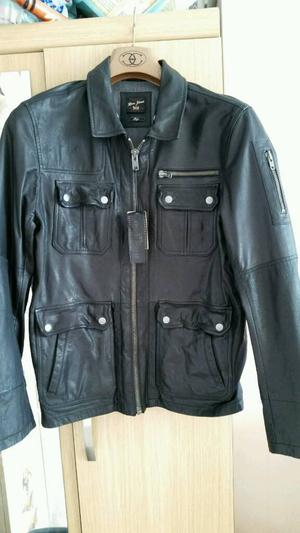 Leather jacket; River Island; Large. Never worn.