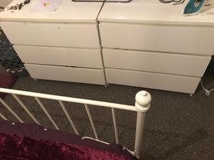 2 sets IKEA malm draws